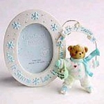 Cherished Teddies Let In Snow Ornament and Frame 118388