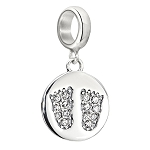 Footprints Pave Baby Feet Charm 2025-1195