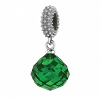 Mysterious Drop Emerald Sterling Silver Charm 3301-5