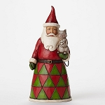 Pint Sized Santa With Cat Figurine 4047775