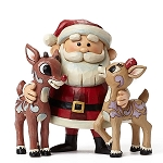Santa Hugging Rudolph And Clarice 4047940