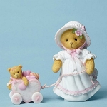 Cherished Teddies Vickie Pulling Heart Cart 4051036