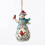 Snowman With Cardinal Ornament 4053840