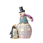 Snowman with Penguins 4055050
