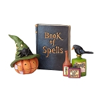 Pumpkin with Hat Book and Potion Set of 3 4058849