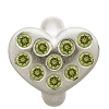 Heart of Love Peridot Sterling Silver Charm 41450-5