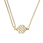 Endless Knot Pull Chain Necklace 14kt