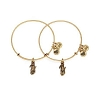 Side By Side Charm Bangles Rafaelian Gold