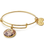 Madonna Of The Lilies Charm Bangle Shiny Gold