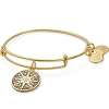 Healing Love Color Infusion Charm Bangle Shiny Gold