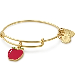 Apple Charm Bangle Shiny Gold