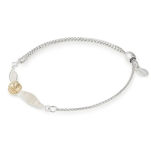 Harry Potter Golden Snitch Pull Chain Bracelet Silver