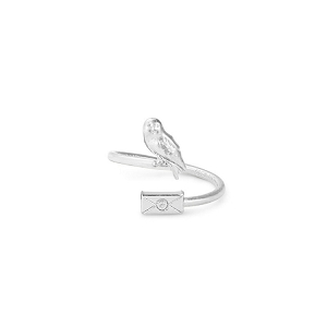Harry Potter Owl Post Ring Wrap Silver