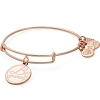 Be Yourself Charm Bangle Peace Love Foundation Shiny Rose Gold