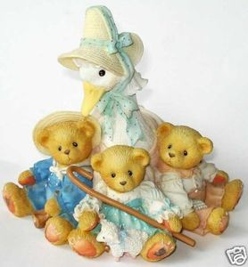 Cherished Teddies Mother Goose Friends Feather 154016