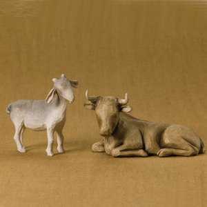Nativity Ox and Goat 26180 Set 2