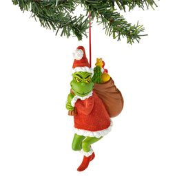 Grinch Stealing Christmas Ornament 4027400