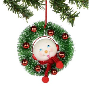 Smiley Snowman in Wreath Ornament 4031987