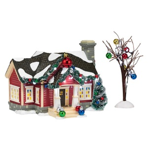 Dept 56 Snow Village Ornament House Set of 2 4036562
