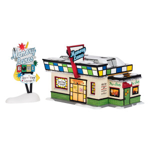 Snow Village Memory Lanes Bowl Set of 2 4036567