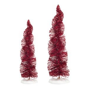 Spiral Ruby Trees Set of 2 4038836