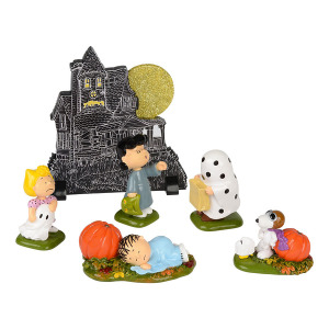 Department 56 Peanuts Haunted House Set of 6 4038921