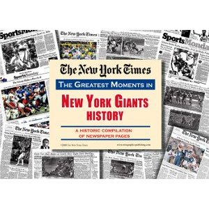 New York Giants New York Times Historic Newspaper Compilation