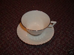 Lenox China Citation Platinum Cup and Saucer