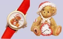 Cherished Teddies I Love You Watch and Figuire 738638