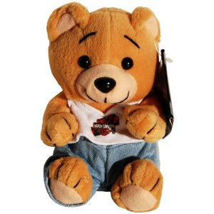 Harley Davidson Evo Girl Teddy Bear Bean Bag Plush