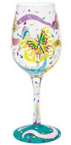 Social Butterfly Wine Glass GLS11-5590S
