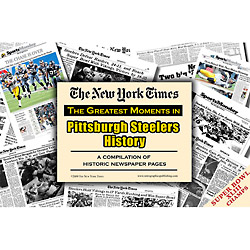 Pittsburgh Steelers History New York Times Newspaper Compilation