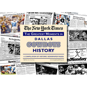 Dallas Cowboys History New York Times Newspaper Compilation