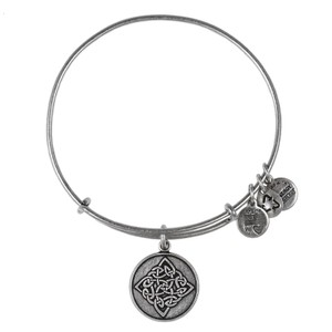 Celtic Knot Charm Bangle Rafaelian Silver