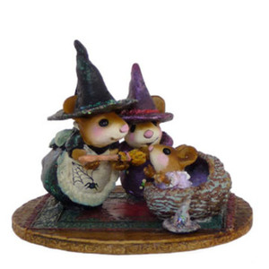 Wee Forest Folk Baby Witch First Broom M373b