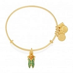 Cicada Beetle Charm Bangle UNICEF Shiny Gold