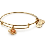 Hermit Crab Charm Bangle Shiny Gold