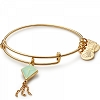 Flying Kites Green Inspiration in Flight Charm Bangle Shiny Gold