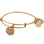 Baby Block Charm Bangle March Of Dimes Gold