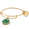 Be Brave Charm Bangle Shiny Gold