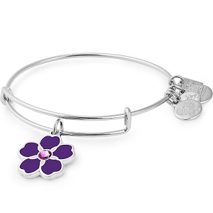 Armenian Flower Forget Me Not Charm Bangle Armenia Fund Shiny Gold