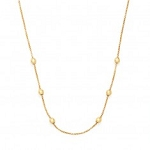 "32"" Expandable Chain Necklace 14kt Gold Plated"