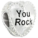 Candy Hearts You Rock Charm 2020-0782