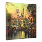Disneyland 50th Anniversary Gallery Wrapped Canvas