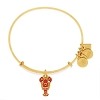 Lobster Charm Bangle Shiny Gold
