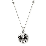 Path of Life Expandable Necklace Silver