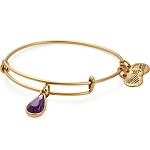 February Birth Month Bangle With Swarovski Crystal Gold