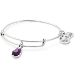 February Birth Month Bangle With Swarovski Crystal Silver