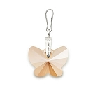 Golden Shadow Butterfly Necklace Charm