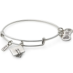 2017 Graduation Cap Charm Bangle Rafaelian Silver